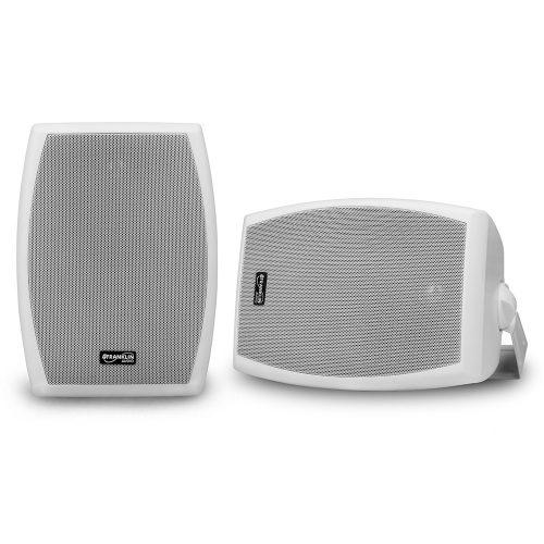 6-1/2″ 2-Way 70V Indoor/Outdoor Speaker Pair – White