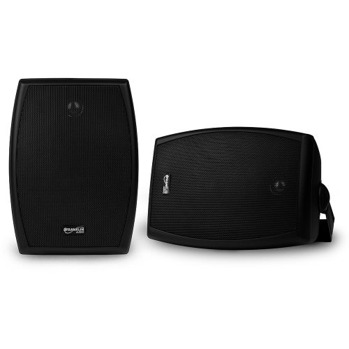 6-1/2″ 2-Way 70V Indoor/Outdoor Speaker Pair – Black
